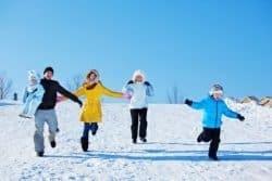 bambini d'inverno
