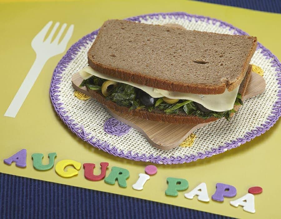 Big panino per il mio grande papà Ricette per bambini 4-10 anni