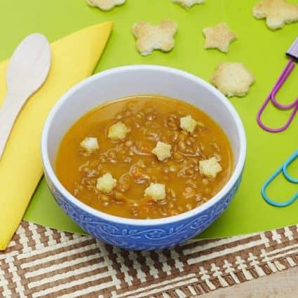 Zuppa con farro lenticchie e zucca