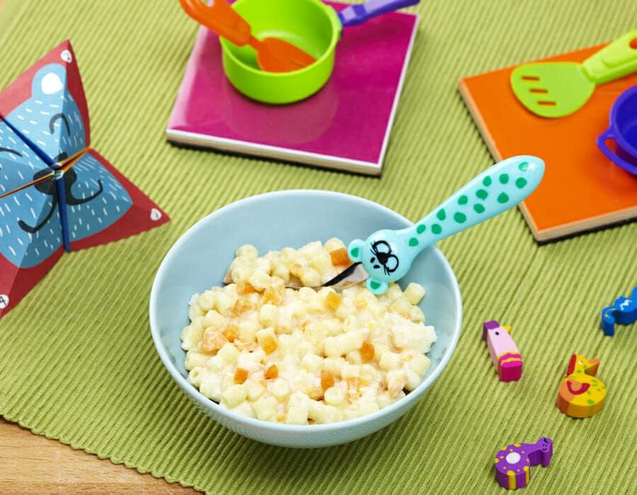 Ditalini robiola e carote Ricette per bambini 1-3 anni