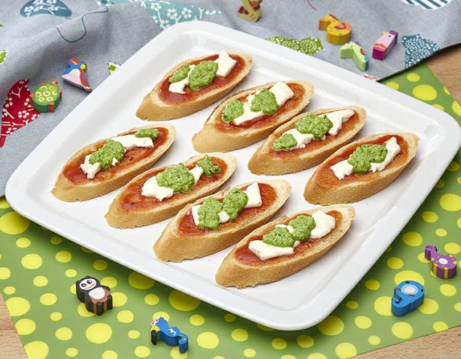 Bruschette della repubblica ricette per bambini 4-10 anni