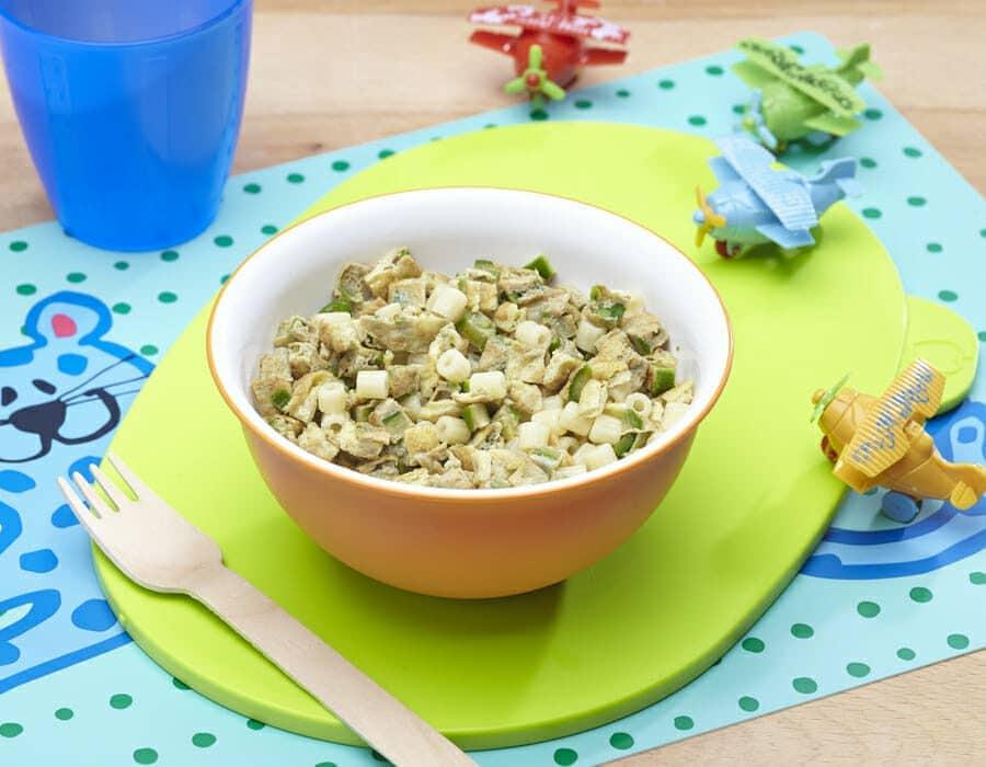 Ditalini con frittata Ricette per bambini 1-3 anni