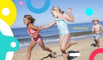 Bambini e mare, bambini che corrono sulla spiaggia - alimentazionebambini. It by coop