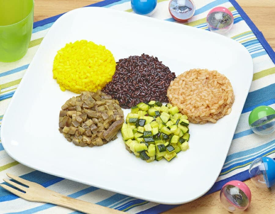 Piatto olimpionico al riso ricette per bambini 4-10 anni