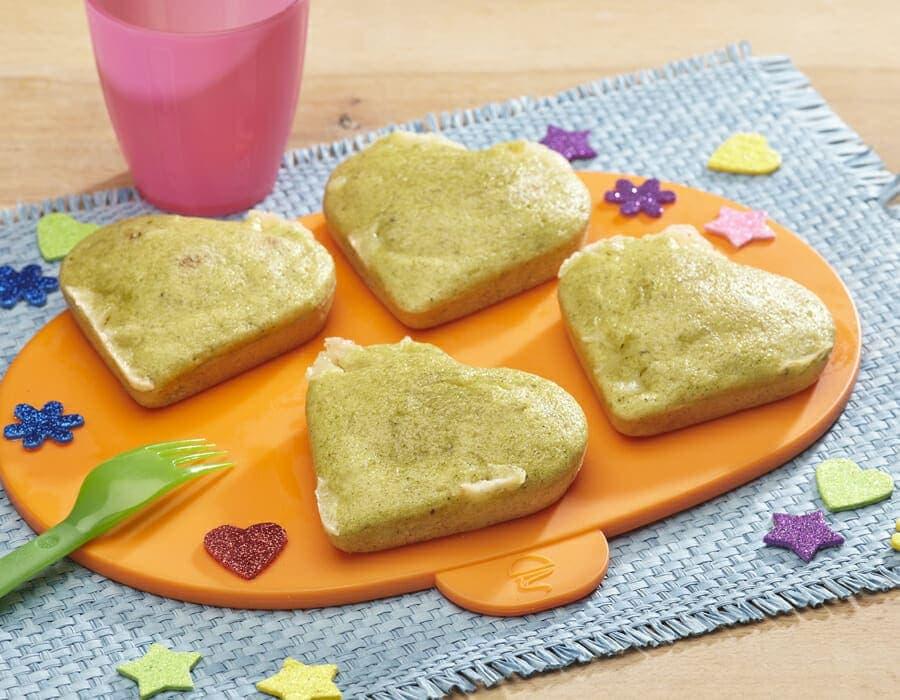Cuoricini di broccoli ricette per bambini 4-10 anni