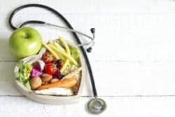 39335771 - healthy food in heart diet abstract concept