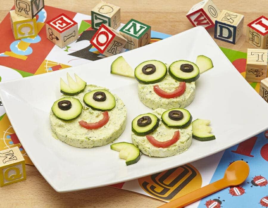Medaglioni di zucchina e robiola Ricette per bambini 1-3 anni