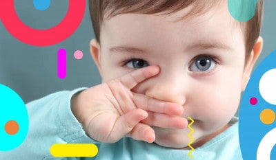 Cura del naso: bimbo che si strofina il naso - alimentazionebambini. It by coop