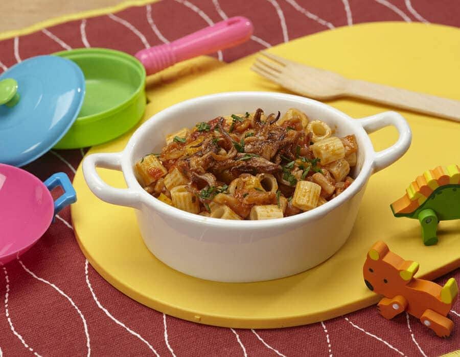 Pasta con totani e pepereoni ricette per bambini 4-10 anni