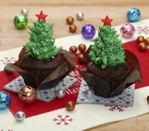 Cupcake con alberello di Natale Ricette per bambini 4-10 anni