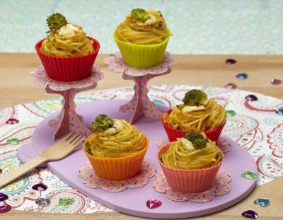 Muffin di pasta al forno con cavolfiore ricette per bambini 4-10 anni
