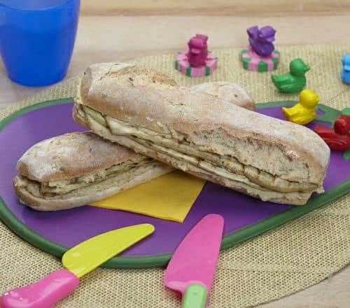 Panino con melanzane e humus di ceci Ricette per bambini 4-10 anni