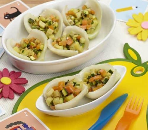 Cucchiai di finocchio colorati Ricette per bambini 4-10 anni