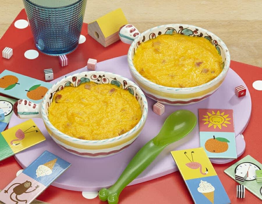 Sformatini di zucca e prosciutto cotto ricette per bambini 1-3 anni