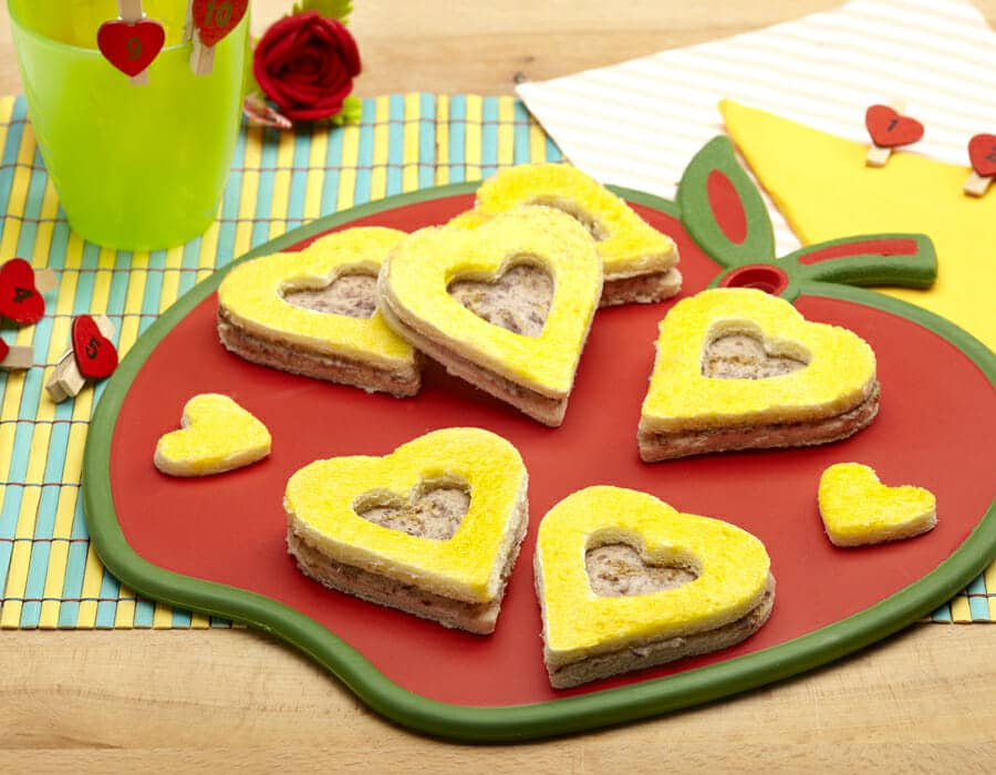 Sandwich di San Valentino Ricette per bambini 1-3 anni