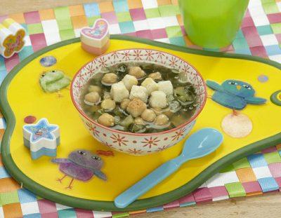 Zuppa di ceci e bietola ricette per bambini 4-10 anni