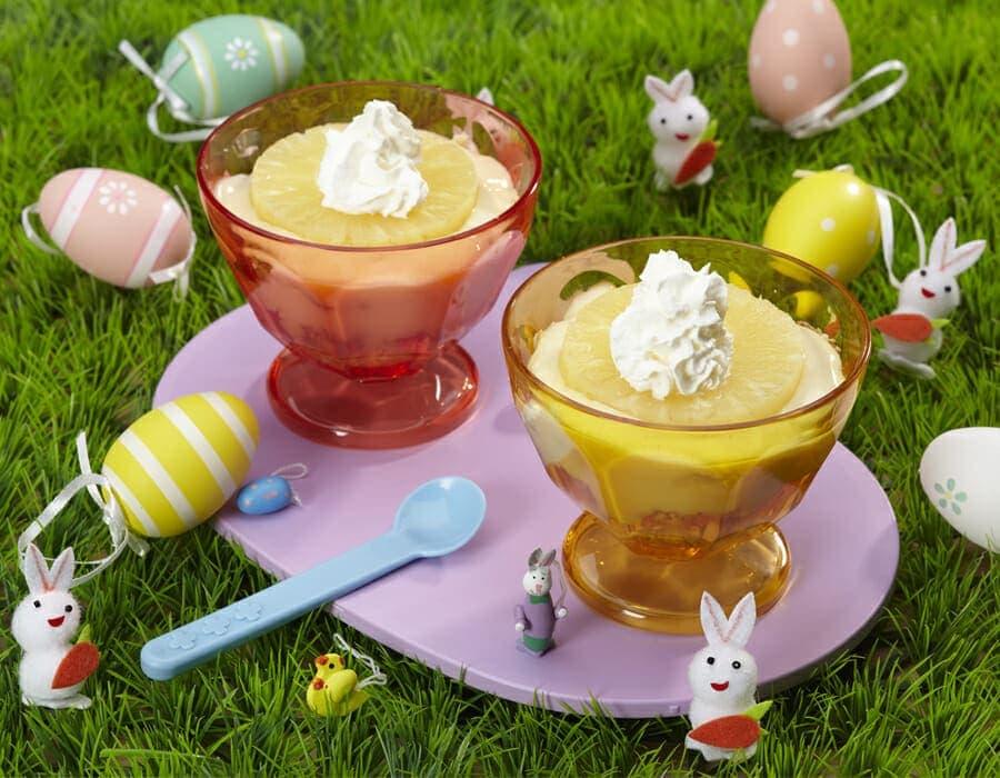 Coppette di colomba e ananas Ricette per bambini 4-10 anni