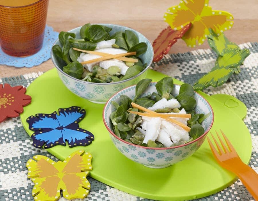 Insalata di fave e platessa ricette per bambini 1-3 anni