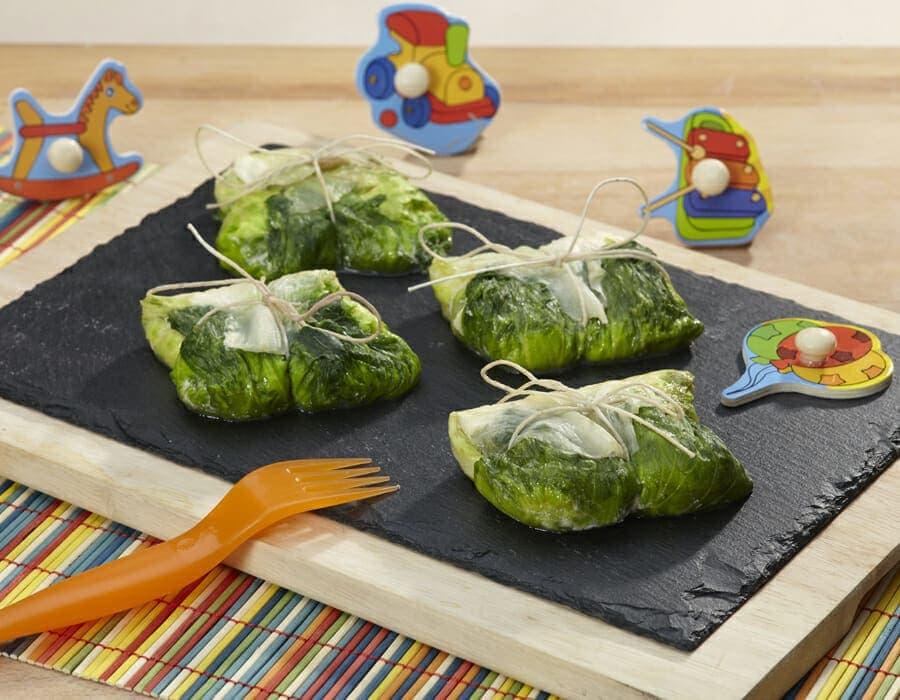 Lattuga romana farcita con ricotta e gamberi ricette per bambini 4-10 anni