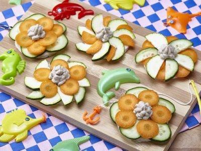 bruschette di pesce e verdurine