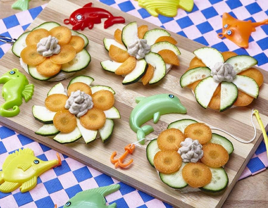 Bruschette di pesce e verdurine Ricette per bambini 1-3 anni