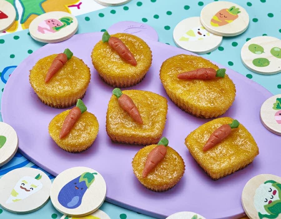 Tortine dolci alla carota ricette per bambini 1-3 anni