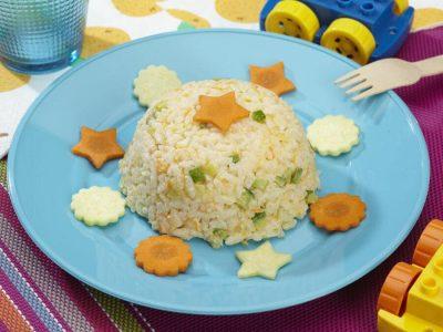 risotto con verdure al latte