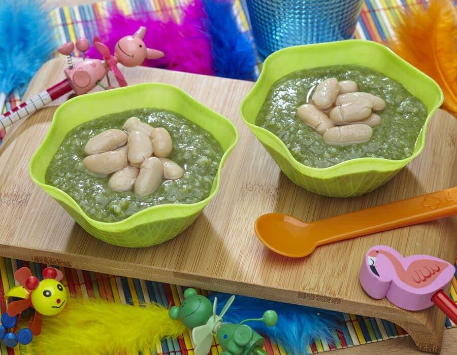 Fagioli cannellini su crema di bietola e riso ricette per bambini 1-3 anni
