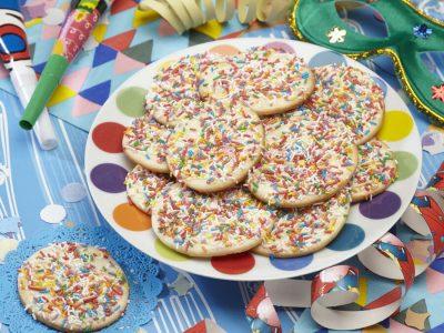 Dischi di carnevale colorati