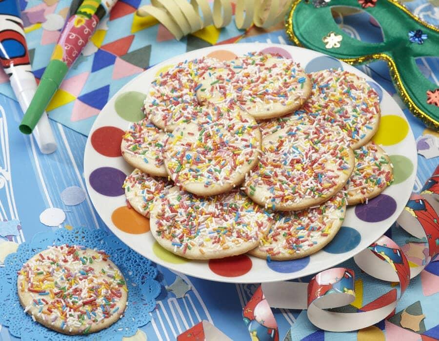 Dischi di carnevale colorati Ricette per bambini 4-10 anni