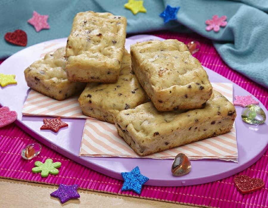 Plum-cake di riso, pere e gocce di cioccolato ricette per bambini 1-3 anni