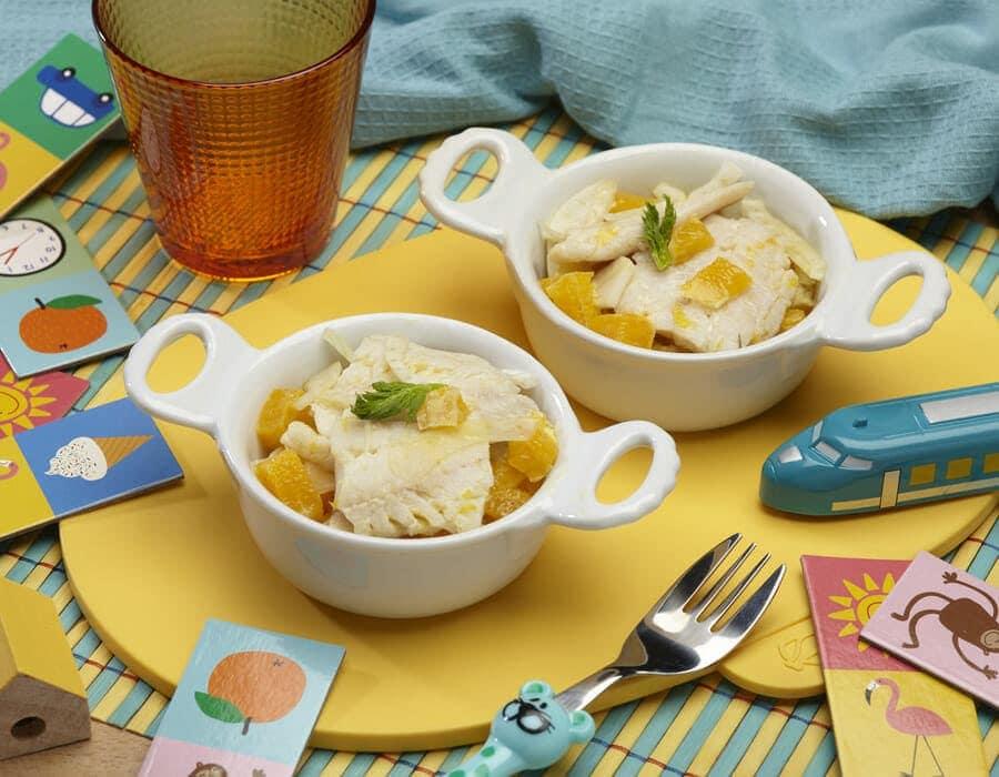 Rombo in insalata di finocchi e arance Ricette per bambini 1-3 anni