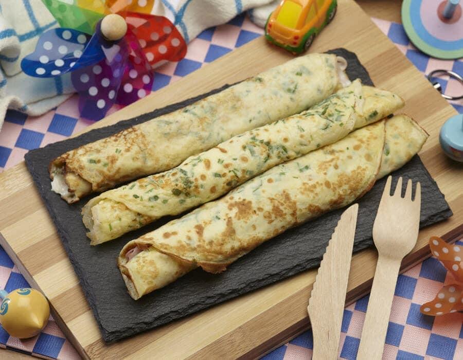 Crepes verde delizia ricette per bambini 1-3 anni