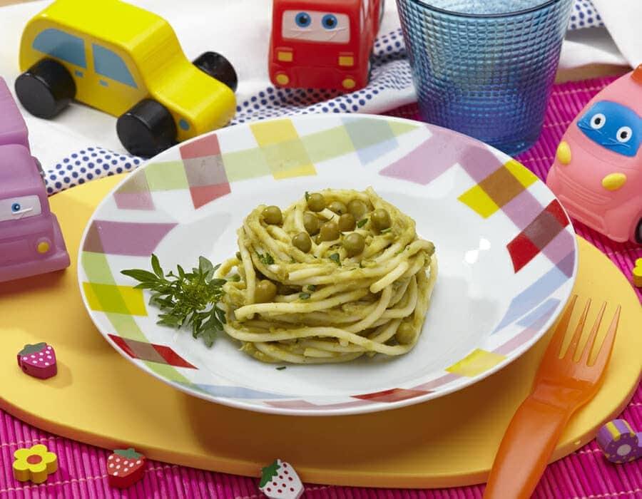 Nidi primavera con cuore di piselli freschi ricette per bambini 4-10 anni
