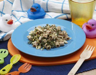 Pasta di farro con agretti e uova ricette per bambini 1-3 anni