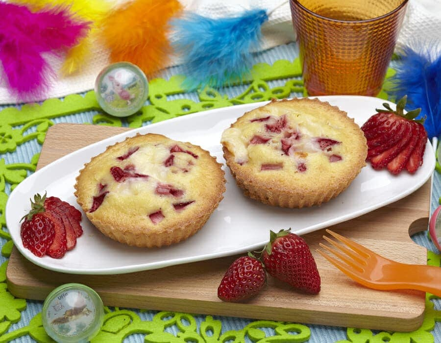 Pancake al forno con fragole Ricette per bambini 1-3 anni