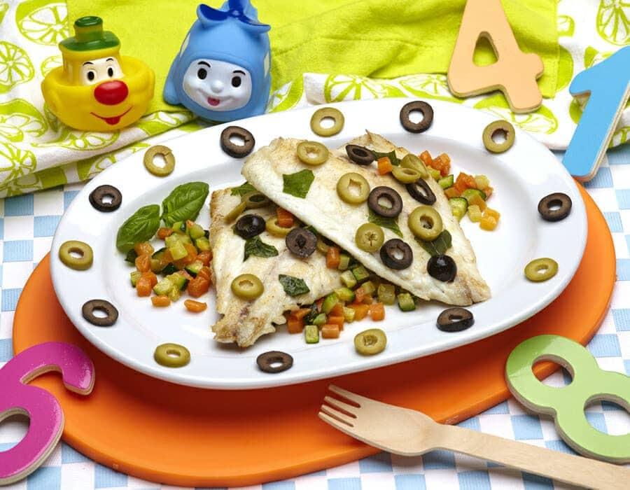 Dentice al cartoccio con dadolata di verdure ricette per bambini 1-3 anni
