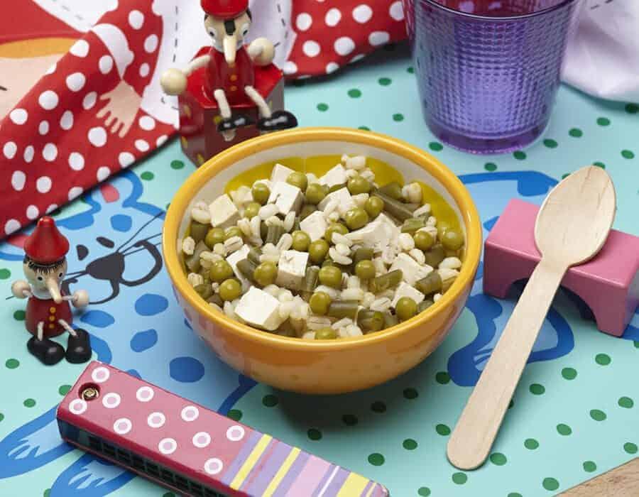 Orzo con verdure e tofu Ricette per bambini 1-3 anni