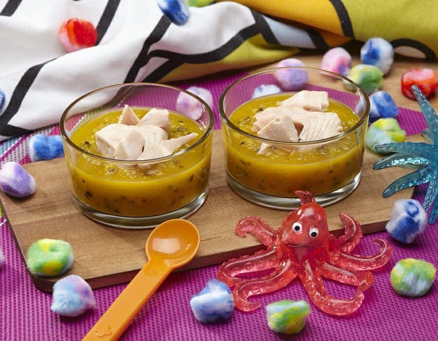 Salmone in salsa di olive e peperoni ricette per bambini 1-3 anni