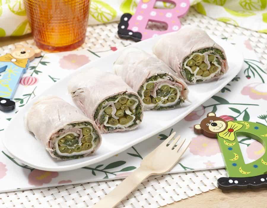 Involtini estivi di prosciutto e fagiolini ricette per bambini 4-10 anni
