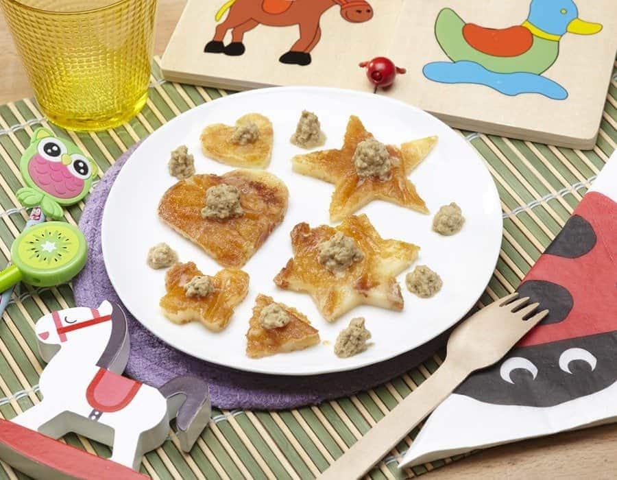 Primo sale alla piastra con crema di melanzane Ricette per bambini 1-3 anni