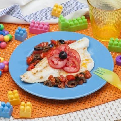 Filetti di persico con limoni e pomodorini