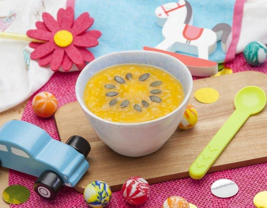 Vellutata di zucca con quinoa Ricette per bambini 1-3 anni