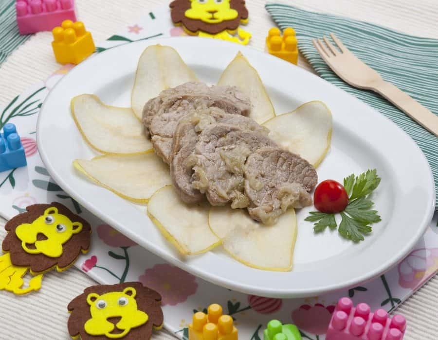 Filetto di maiale alla pera Ricette per bambini 1-3 anni