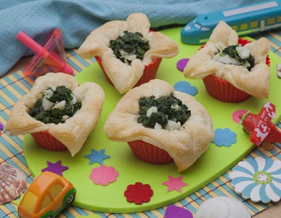 Scrigni di cernia con spinaci Ricette per bambini 4-10 anni