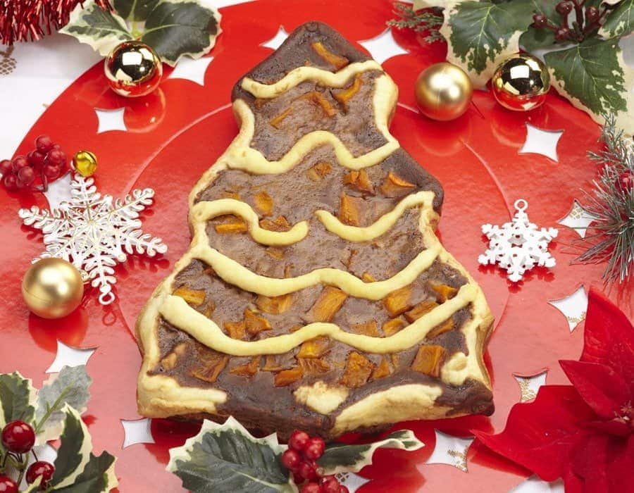 Alberello di crostata alla zucca e cioccolato