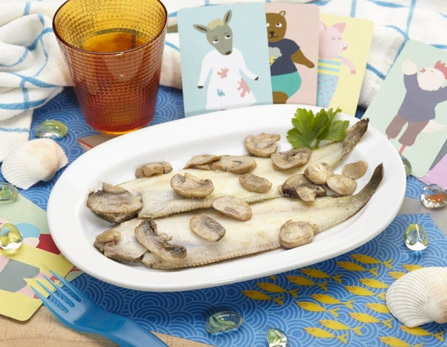Sogliola al forno con funghi Ricette per bambini 1-3 anni