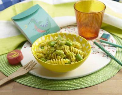 Carbonara di fave ricette per bambini 4-10 anni