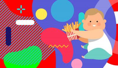 Obesità infantile cause conseguenze terapie illustrazione originale - alimentazionebambini. It by coop