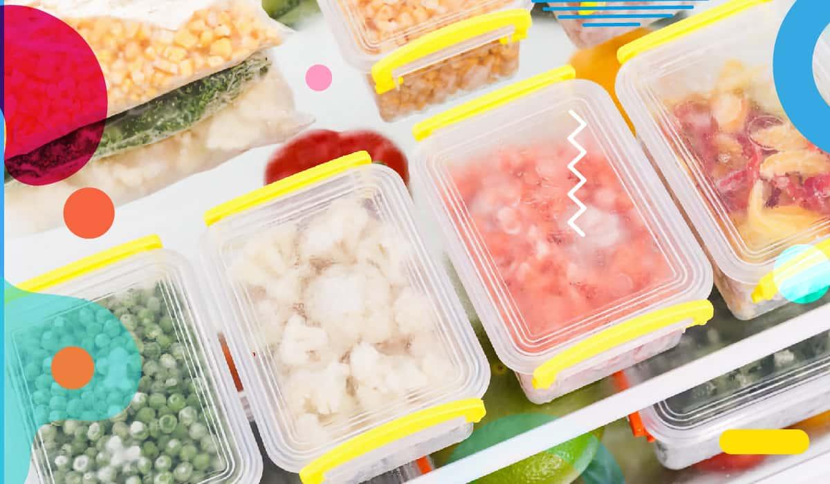 Congelare i cibi, contenitori pieni di verdure congelate - alimentazionebambini. It by coop